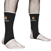 Muay Thai MMA Ankle Support Wraps  - Black