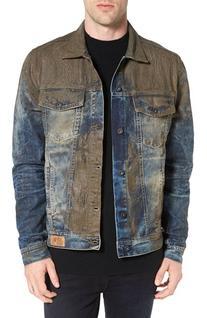 Men's Prps Mud Denim Jacket, Size Medium - Blue
