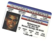 Muhammad Ali Boxing Champ Fun Fake ID License