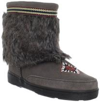 Minnetonka Women's Mukluk Low,Grey,6 M US