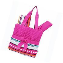 Multi Color Aztec Tribal Hipster Print 3pc. Diaper Bag
