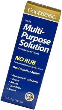 GoodSense Multi Purpose No Rub Contact Lens Cleaner Solution