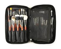 LOUISE MAELYS Zipper Makeup Brush Bag Cosmetic Bag with