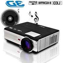 LED Video Projector HD Home Theater Projector Full Color 200