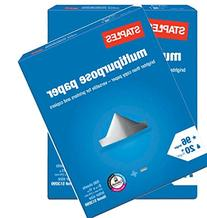 Staples Multipurpose Copy Fax Laser Inkjet Printer Paper, 8