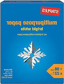 "Staples Multipurpose Paper, 8 1/2"" x 11"", Bright White, Ream"