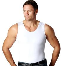 Insta Slim White Muscle Tank Men's Firming Compression Under