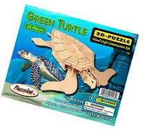 Museum Quality Green Sea Turtle Wooden 3-d Constuction Kit