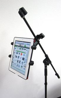 ChargerCity Music MIC Microphone Stand Tablet Mount with 360