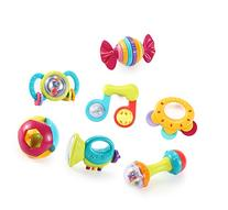Music Party Fun 7 Piece Baby Rattle and Teether Toy Gift Set