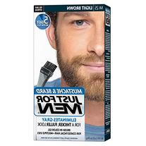 Just For Men Mustache and Beard Brush-In Color Gel, Light