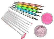 7 x Nail Art Gel Painting/Drawing Brush Tool Set Plus 5 x 2-