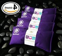 Namaste Yoga Lavender Eye Pillows - 4 Pieces - Purple Cotton