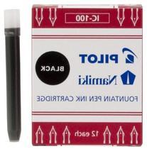 Pilot Namiki IC100 Fountain Pen Ink Cartridge, Black, 12