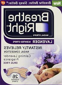Breathe Right Lavender Tan Nasal Strips - 26 Count