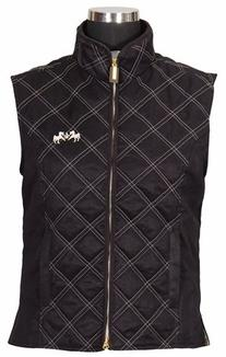 Equine Couture Women's Natasha Vest, Safari/Black, 3X