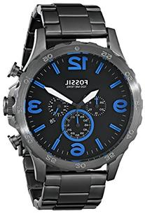 Fossil Nate Chronograph Smoke Stainless Steel Watch Jr1478