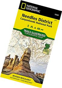 National Geographic Trails Illustrated Map Needles District