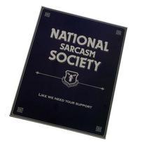 National Sarcasm Society Tin Sign Vintage Metal Bar Wall