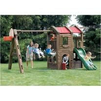 Step2 Naturally Playful Adventure Lodge Swing Set and Play