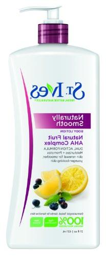 St. Ives Naturally Smooth Body Lotion, Fruit Aha Complex, 21