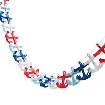 Nautical Anchor Garland  Paper