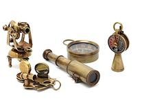 Nautical Gift Set-Miniature Telescope,Theodolite,Telegraph,