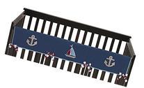 Nautical Nights Sail Boat Long Front Rail Guard Baby Boy