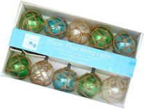 Nautical Retro Glass-Style Buoy Plastic String Lights-