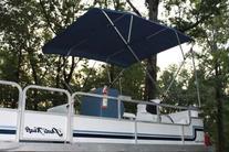 New NAVY BLUE Vortex Pontoon / Deck Boat 4 Bow Bimini Top 10