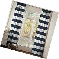 Carousel Designs Navy Horizontal Stripe Drape Panel 64-Inch