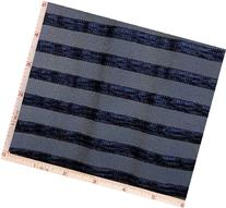 Navy Mesh with Stripe Lace Fabric 4 Way Stretch Nylon 63-65