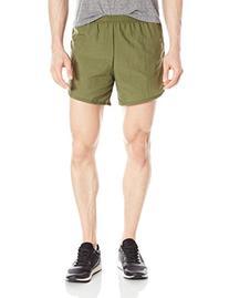 Soffe Men's Official Navy PT Running Short with Pocket Olive