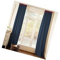 Carousel Designs Navy and Red Drape Panel 64-Inch Length