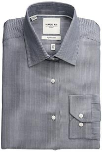 Ben Sherman Men's Slim Fit Dobby Stripe Spread Collar Dress