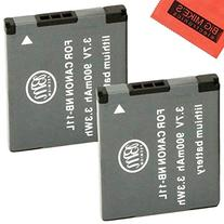 BM Premium 2 Pack Of NB-11L, NB-11LH Batteries for Canon