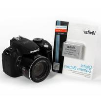 Vivitar NB-10L Battery and Charger Kit for Canon PowerShot