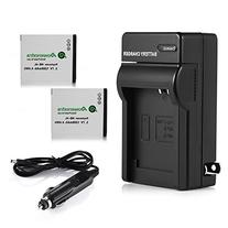 Powerextra 2 Pack Battery and Charger Kit for Canon NB-4L,