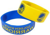 NBA Golden State Warriors Silicone Rubber Bracelet, 2-Pack