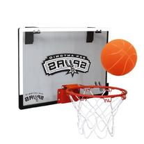 NBA San Antonio Spurs Game On Indoor Basketball Hoop & Ball