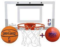 Spalding NBA Slam Jam Mini Basketball Hoop Deluxe Set with