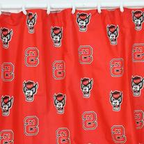 NCAA North Carolina State Wolfpack Shower Curtain Bathroom