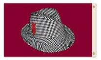 NCAA Alabama Crimson Tide Houndstooth Hat 3-by-5 Foot Flag