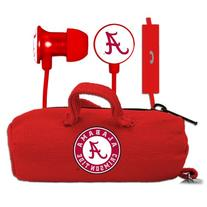 NCAA Alabama Crimson Tide Scorch Earbuds and Mic Clamshell