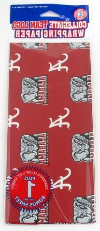 NCAA Alabama Crimson Tide Wrapping Paper