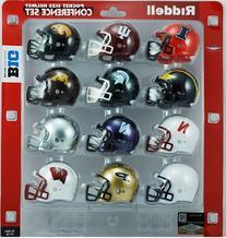 NCAA Big 10 Conference Pocket Size Helmet Set