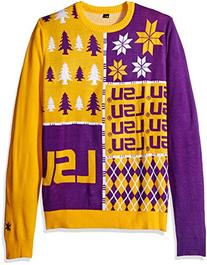 Klew NCAA Busy Block Sweater - Large - LSU Tigers
