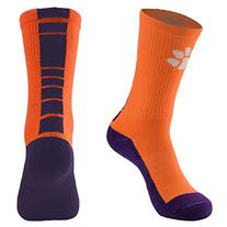 NCAA Clemson Tigers Men's Champ Performance Crew Socks,