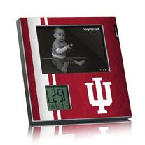 Indiana Hoosiers Picture Frame & Desk Clock Licensed by the
