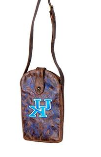 NCAA Kentucky Wildcats Women's Cross Body Purse, Brass, One